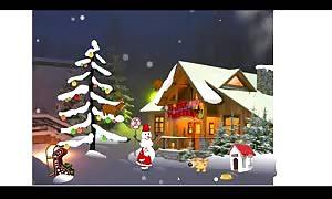 Santa Claus enjoying his Christmas presents anime Game