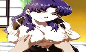 Misato Katsuragi drilling (Evangelion)