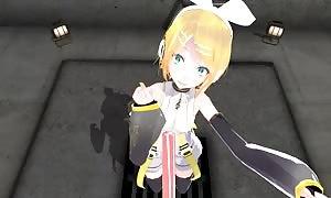 3D POV Vocaloid Rin anime